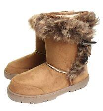 New ELLA Womans Vegan Winter Snow Warm Flat Ankle Knee Calf High Fur Lined Boots