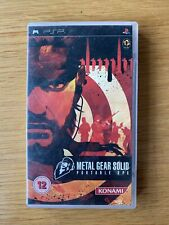 Metal Gear Solid Portable Ops PSP Complete