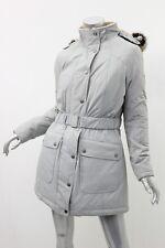 BARBOUR Silver Ice Kirby Faux Fur-Trim Longline Parka Coat 10 $499