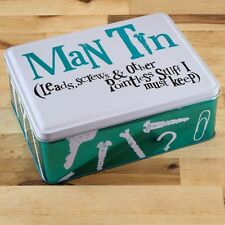 Christmas, Novelty, Special or Unusual Fathers Day Gifts for Him Man Tin Storage