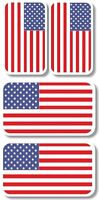 Vinyl sticker/decal Extra small 45mm & 35mm USA flags - group of 4