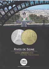 Flyer de la monnaie de Paris - Rives de Seine - Série UNESCO 2014