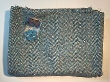 "PENDLETON Wool Fabric 2 yds x 61"" Blue/Green/White Herringbone + Tag  Buttons"
