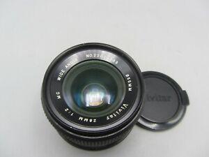 Vivitar Wide Angle 28mm F2 Minolta MD Mount Lens For SLR/Mirrorless Cameras