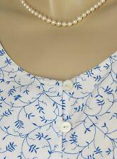 Laura Ashley Sommerkleid 38 weiß blau reine Baumwolle