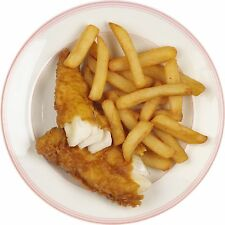 1 Pair of FISH N CHIPS STICKERS - Catering Vans cafes Etc.