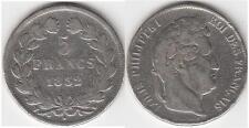 FRANCIA 5 FRANCHI 1832 ZECCA W  ARGENTO 900/1000 LUIGI FILIPPO (1830-1848)