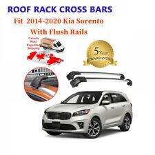Fits KIA Sorento 2014-2019 Black Baggage Roof Rack Rail Cross Bar Crossbar Pair