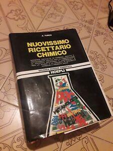 CHIMICA - A. TURCO - NUOVISSIMO RICETTARIO CHIMICO - SECONDA EDIZIONE AUMENTATA