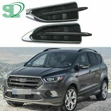 Pair Chrome Fender Molding Strips Covers For Ford Escape Kuga 2017 2018