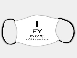'Too Close' - Eye Test Adjustable Face Mask with 2 x PM2.5 Filters