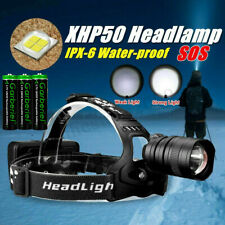 900000LM XHP50 LED Zoom USB Rechargeable 18650 Headlamp Head Light Hunting Torch