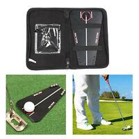 Golf Ausrichtung Putting Spiegel-Tragbare Putt Training Aid Putting Alignment