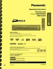 Panasonic DMR-EZ485V DMR-EZ48V DVD Recorder OWNER'S USER MANUAL