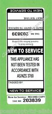 150 x Black 'New to Service' Premium Electrical Adhesive Test Tag Labels