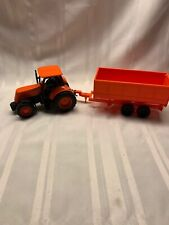 Orange Kubota Tractor and Trailer - New Ray
