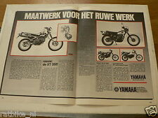 A206-YAMAHA XT500 AND XT350 OFF-ROAD BIKE ADD POSTER 1985