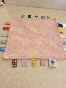 Little Taggies Pink Fleece Comforter Comfort Blanket Flower Print