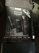 "AXE Gift Pack 3+1 Bonus with Washbag ""BLACK"" Fragrance Collection"
