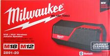 NEW IN BOX Milwaukee 2891-20 Bluetooth Speaker Cordless & Corded M18 M12 18 Volt