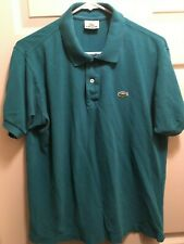 Men Lacoste Polo Shirt Size 4 classic fit Small Croc Buttons Green