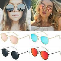 Fashion Oversized Round Sunglasses Men Women's Vintage Retro Mirror Sunglasses