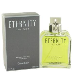 CALVIN KLEIN Eternity Cologne 6.7 oz EDT For Men NEW AND SEALED