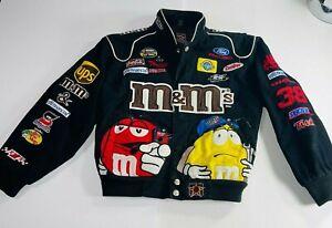 JH Design Youth S Vintage NASCAR #38 Robert Yates  M&M Jacket Button Racing