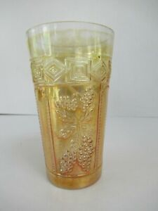 """Antique Jain Indian Carnival Glass Tumblers Muscadine Design Collectibles """"F05"""