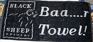 Black Sheep Brewery Cotton Bar Towel 525mm x 250mm (pp)