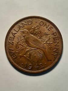 1942  ONE PENNY  NEW ZEALAND