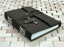 "GENUINE Leather Notebook Diary Journal Sketchbook 7x5"" Leather Bound Writing"