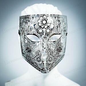 Volt Silver Hand-Painted Men/'s Masquerade Mask A-2093S-E