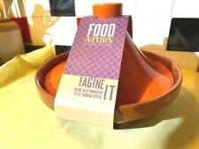 Food Nation - Orange/Brown Large Ceramic Tagine - BRAND NEW