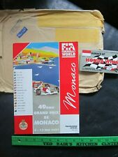 Grand Prix Monaco Motor Racing Program 1991 Ayrton Senna {Formula One}