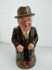 More details for royal doulton cliff cornell ( brown suit ) toby jug  9 inches tall 1956 superb