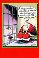 Santa in Jail 12 Funny Boxed Christmas Cards by Nobleworks