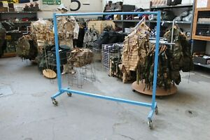 Garment Rails BLUE HEAVY DUTY Hanging Clothes Shop Displays