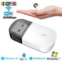 2.4 / 5GHz Dual Band Wireless Network USB WiFi Adapter Dongle PC Laptop Desktop