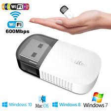 2.4 / 5GHz Dual Band Wireless Network USB WiFi Adapter Dongle PC Laptop Desktop
