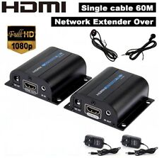 HDMI Network Extender Adapter 1080P to 60M Over RJ45 Cat6 7 Ethernet Cable IR 3D