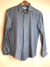 Men's JOHN VARVATOS Green Long Sleeve Button Down Shirt Size Medium