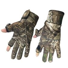Camouflage Fishing Gloves Full Fingers 2 Slit Finger Glove Winter Gear Anti Slip