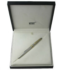 MONTBLANC SOLITAIRE 163S STERLING SILVER BARLEY & GOLD ROLLERBALL PEN NEW IN BOX
