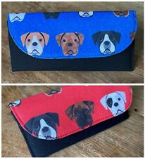 More details for boxer dog glasses case lots of boxer fabric choices. firm padded case