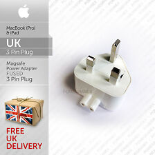 Apple Replacement 3 Pin UK Plug for iPad & MacBook Magsafe Charger 3A Fused