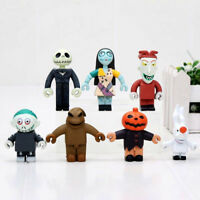 7Pc The Nightmare Before Christmas Jack Skellington Pumpkin King PVC Figure Toy