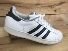 Adidas Mens White Black Shoe Shell Toe Superstar C77124 Sz 11 US 10.5 UK