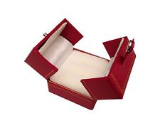 Deluxe Leatherette Double Ring Box Jewelry Gift Organizer Engagement M03