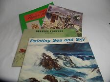 Vintage Art Books Painting, Drawing and Paper Tole Lot of 4